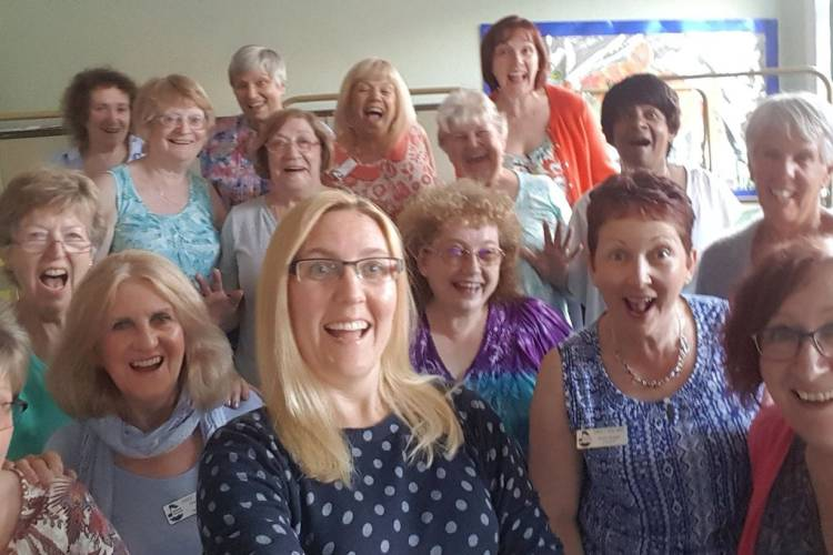 We are a friendly group of fun loving women who enjoy singing together.